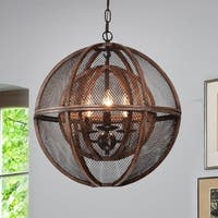 Sephora Brown 3-Light Globe Pendant