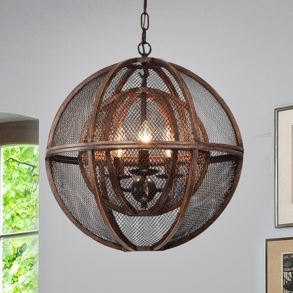 Sephora Brown 3-Light Globe Pendant