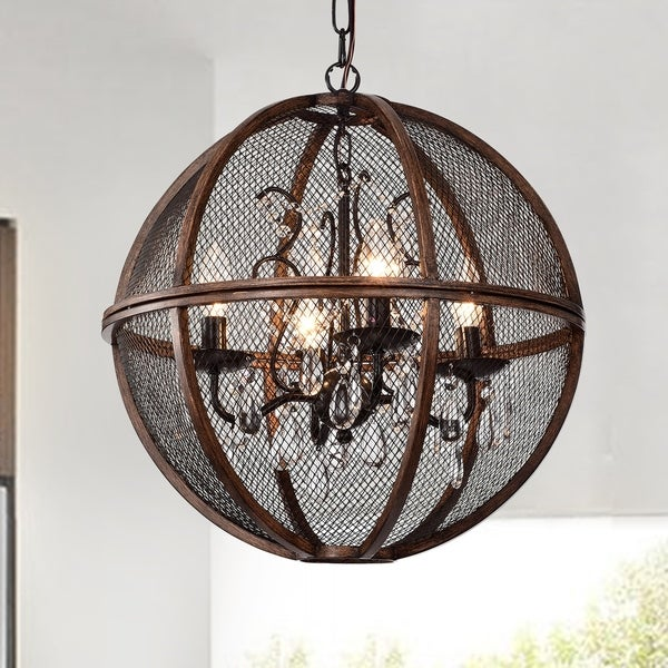 Marcelline Brown 4-Light Globe Pendant