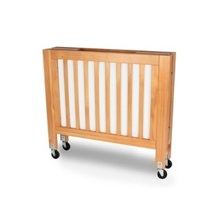 LA Baby Olympia Mini/Portable Folding Wood Crib