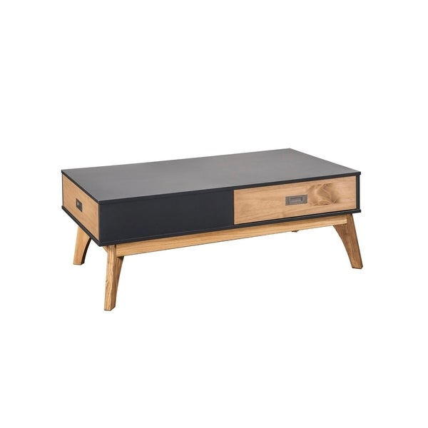 Mid-Century Modern 2-Drawer Jackie 2.0 Coffee Table