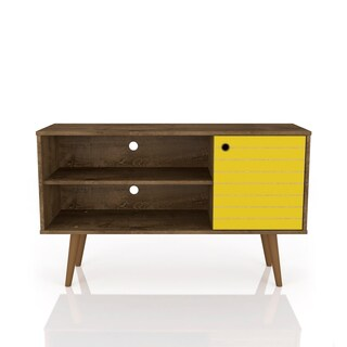 Mid Century Modern Liberty 42 In. 2 Shelf Brown TV Stand