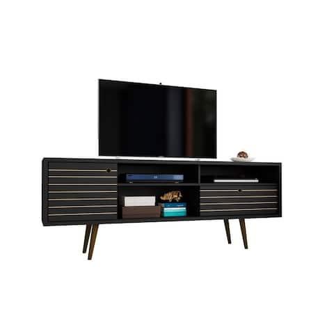 Liberty 70.86 In. Mid Century Modern 4 Shelf TV Stand