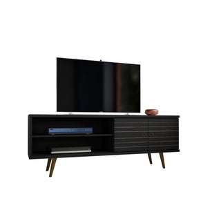 Liberty 62.99 In. Mid Century Modern 3 Shelf TV Stand