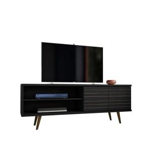 Liberty 62.99 In. Mid Century Modern 3 Shelf TV Stand