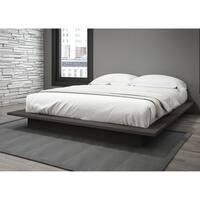 Stellar Home Furniture Queen Platform Bed in Charcoal Grey