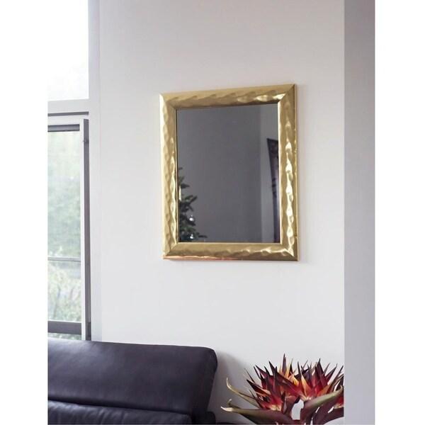 """Decorative Gold Metalic Impressions 20"""" X 16"""" Wall Mirror"""