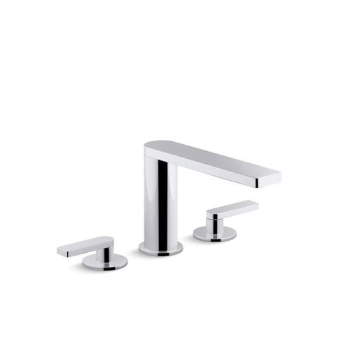 Kohler Composed Widespread Bathroom Sink Faucet with Lever Handles Vibrant Titanium