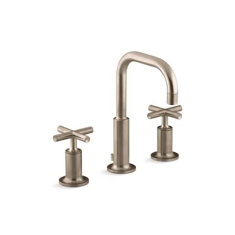 Purist Cross 2-handle Widespread Bathroom Sink Faucet