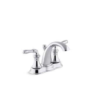 Kohler K-393-N4 Devonshire Centerset Bathroom Sink Faucet With Lever Handles