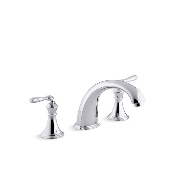 Shop Kohler K T398 4 Devonshire Deck Rim Mount High Flow Bath Faucet Trim With 9 Quot Spout And
