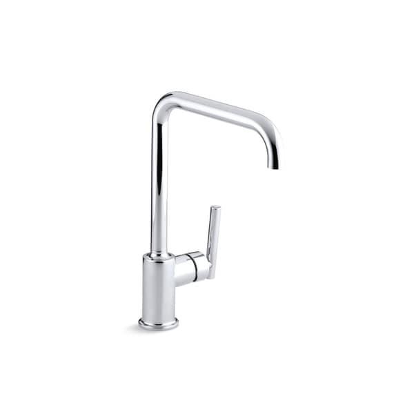 "Kohler Purist Single-Hole Kitchen Sink Faucet with 8"" Spout. Opens flyout."