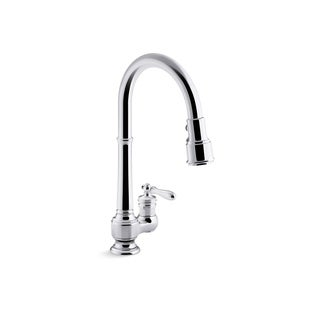 Kohler K 99260 Artifacts Single Hole Kitchen Sink Faucet With Pull Down  Spout
