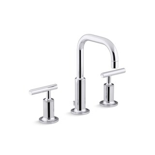 Kohler Purist Lever Handles Low Gooseneck Bathroom Sink Faucet