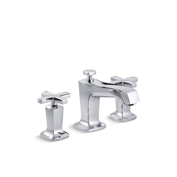 Shop Kohler K 16232 3 Margaux Widespread Lavatory Faucet With Cross