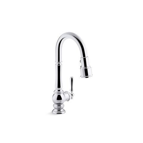Kohler Artifacts Pullout Spray Single Hole Kitchen Faucet K-99261-VS Vibrant Stainless