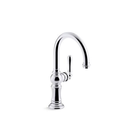 """Kohler Artifacts Single-Handle Bar Sink Faucet with 13-1/16"""" Swing Spout, Arc Spout Design"""