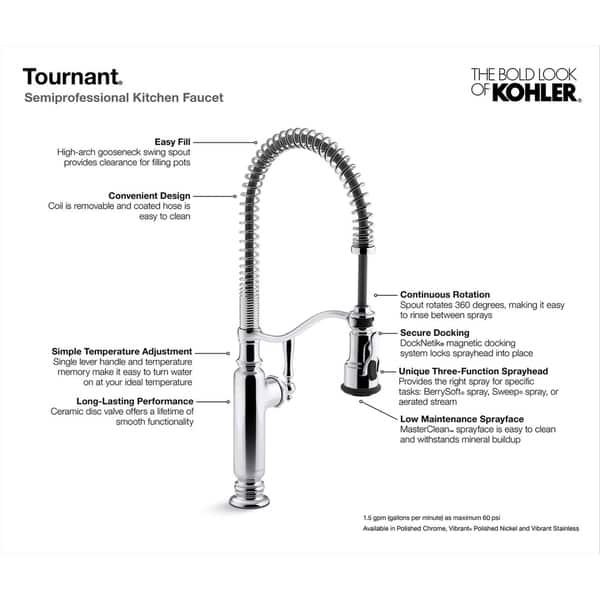 Shop Kohler Tournant Semiprofessional Kitchen Sink Faucet