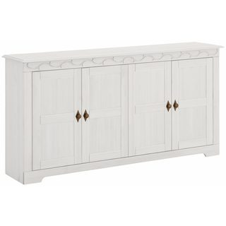 Lando 4 Door Sideboard, solid pine, off white