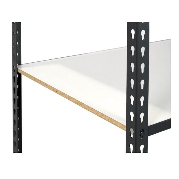 Shelving-Pro 36 x 18 Extra Shelf for Unit 3618L-1A5, White Laminate