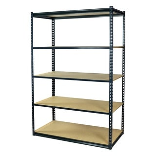 Shelving-Pro Garage Shelving Boltless, 48 x 18 x 72, Low Profile, 5 Shelves