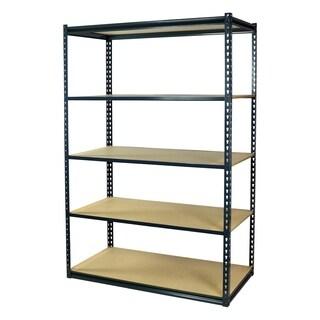 Shelving-Pro Garage Shelving Boltless, 36 x 12 x 72, Low Profile, 5 Shelves