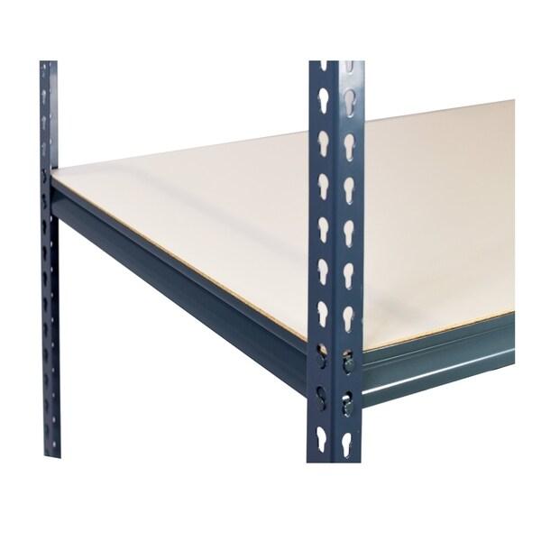 Shelving-Pro 36 x 18 Extra Shelf for Unit 3618L-1B3, White Laminate, Double Rivet Z-Beams