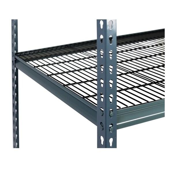 Shelving-Pro 48 x 12 Extra Shelf for Unit 4812M-1B3, Wire Mesh, Double Rivet Z-Beams