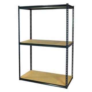 Shelving-Pro Garage Shelving Boltless, 36 x 12 x 72, Double Rivet Z-Beams, 3 Shelves