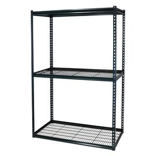 Shelving-Pro Garage Shelving Boltless, 48 x 12 x 72, Double Rivet Z-Beams, 3 Shelves
