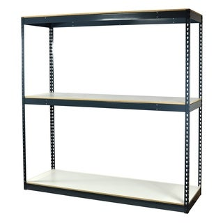 Shelving-Pro Garage Shelving Boltless, 60 x 24 x 72, Heavy Duty, Double Rivet Beams, 3 Shelves