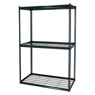 Shelving-Pro Garage Shelving Boltless, 48 x 18 x 72, Double Rivet Z-Beams, 3 Shelves 3 Particle Board Shelves