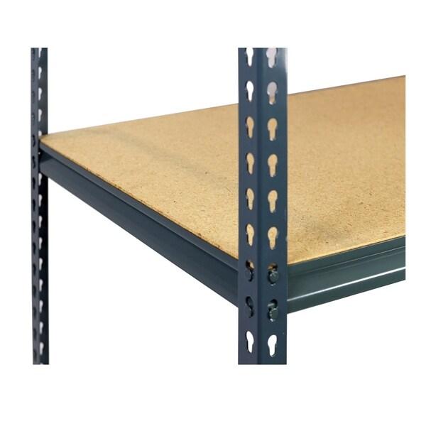 Shelving-Pro 48 x 18 Extra Shelf for Unit 4818W-1B3, Particle Board, Double Rivet Z-Beams