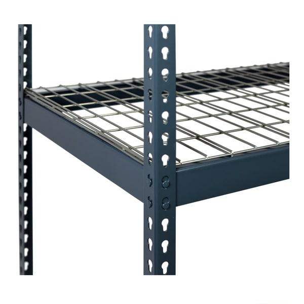 Shelving-Pro 72 x 24 Extra Shelf for Unit 7224TH-2B3, Wire Mesh, Heavy Duty, Double Rivet Beams