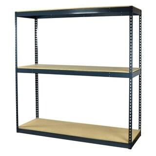 Shelving-Pro Garage Shelving Boltless, 60 x 48 x 72, Heavy Duty, Double Rivet Beams, 3 Shelves