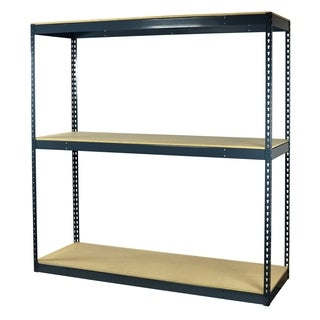 Shelving-Pro Garage Shelving Boltless, 60 x 36 x 72, Heavy Duty, Double Rivet Beams, 3 Shelves