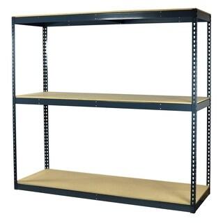 Shelving-Pro Garage Shelving Boltless, 72 x 18 x 72, Heavy Duty, Double Rivet Beams, 3 Shelves
