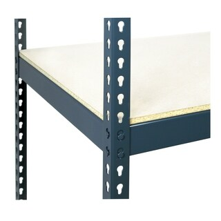 Shelving-Pro 72 x 36 Extra Shelf for Unit 7236LHC-2B3, White Laminate, Heavy Duty, Double Rivet Beams