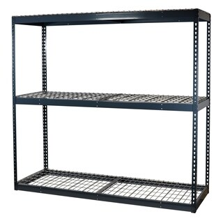 Shelving-Pro Garage Shelving Boltless, 72 x 48 x 72, Heavy Duty, Double Rivet Beams, 3 Shelves