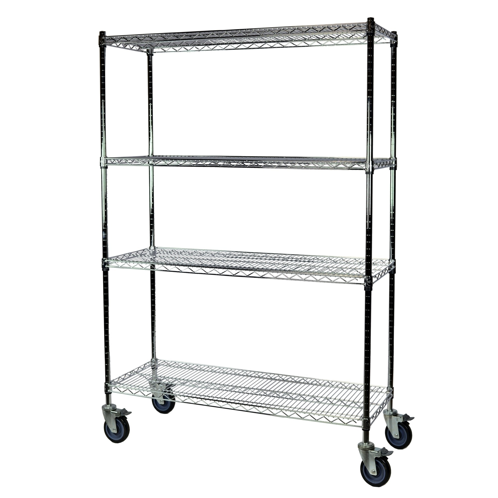 Shelving Pro Chrome Wire Shelving With Wheels 18 X 36 X 74 4 Shelves