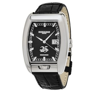 Charriol Men's C25BD.391.004 'MD52' Black Dial Black Leather Strap '25th Anniversary' Swiss Automatic Watch