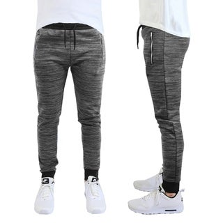 Men's Marled Stretch Joggers with Zipper Pockets