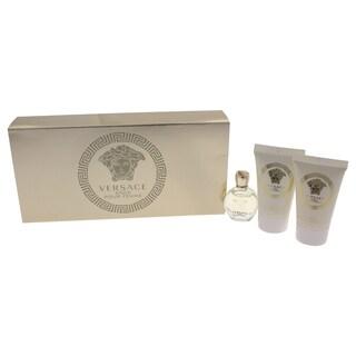 Versace Eros Pour Femme Women's 3-piece Mini Gift Set