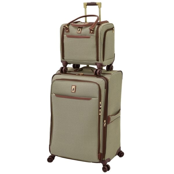 e398f082a London Fog Cambridge II 15-inch Carry On Spinner Under Seat Tote Bag - 15