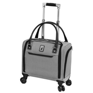 London Fog Cambridge II 15-inch Carry On Spinner Under Seat Tote Bag