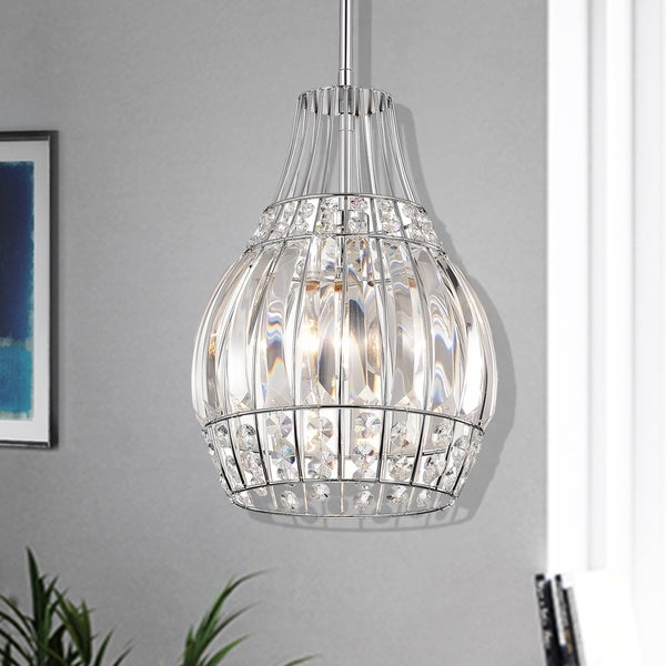 Claudia Chrome 1-Light Bowl Pendant