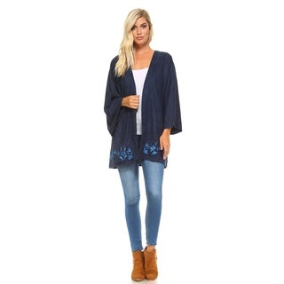 Morning Apple Arlina Embroidered Kimono Cardigan