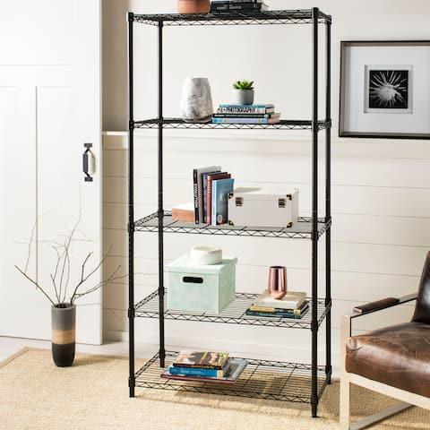 "happimess Etta 5-Shelf 71.6"" Wire Rack, Black"