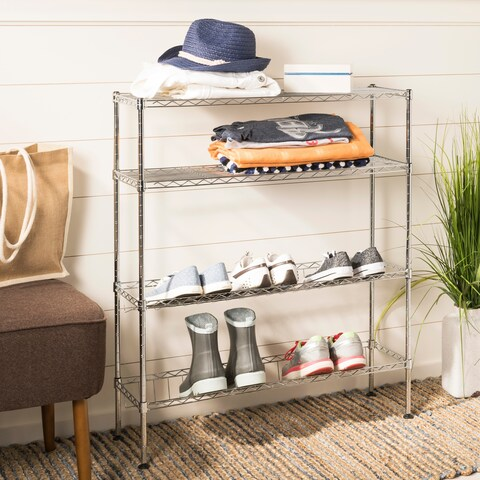 "happimess Carrie 4-Tier 35.8"" Shoe Rack, Chrome"