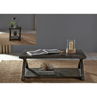 Twin Oaks Rustic Charcoal Table 3-piece Set